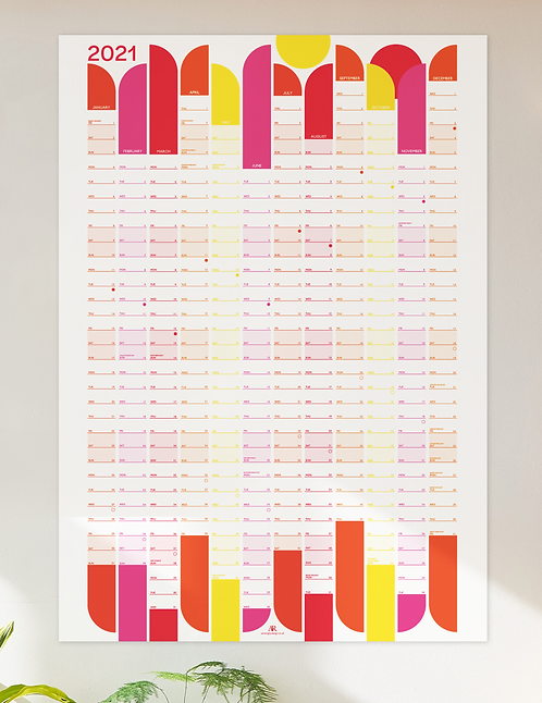 2021 Wall planner - all the brights!
