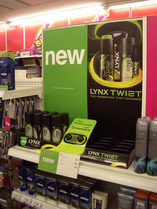 Unilever Lynx Twist retail launch camaign • Sainsbury's Inline plinth