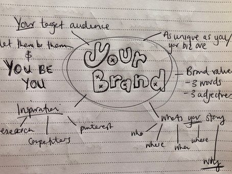 Your Brand - it starts with 3 words...