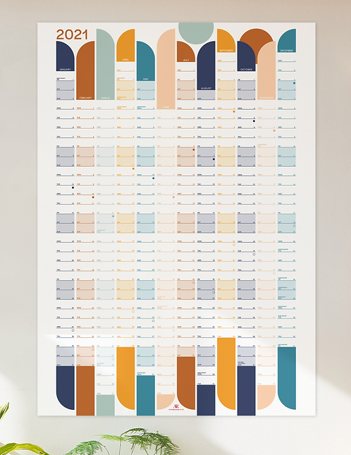2021 Wall planner - muted tones