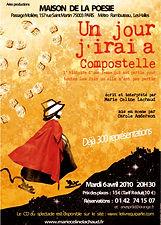 Compostelle_affiche_maison_de_la_poésie.