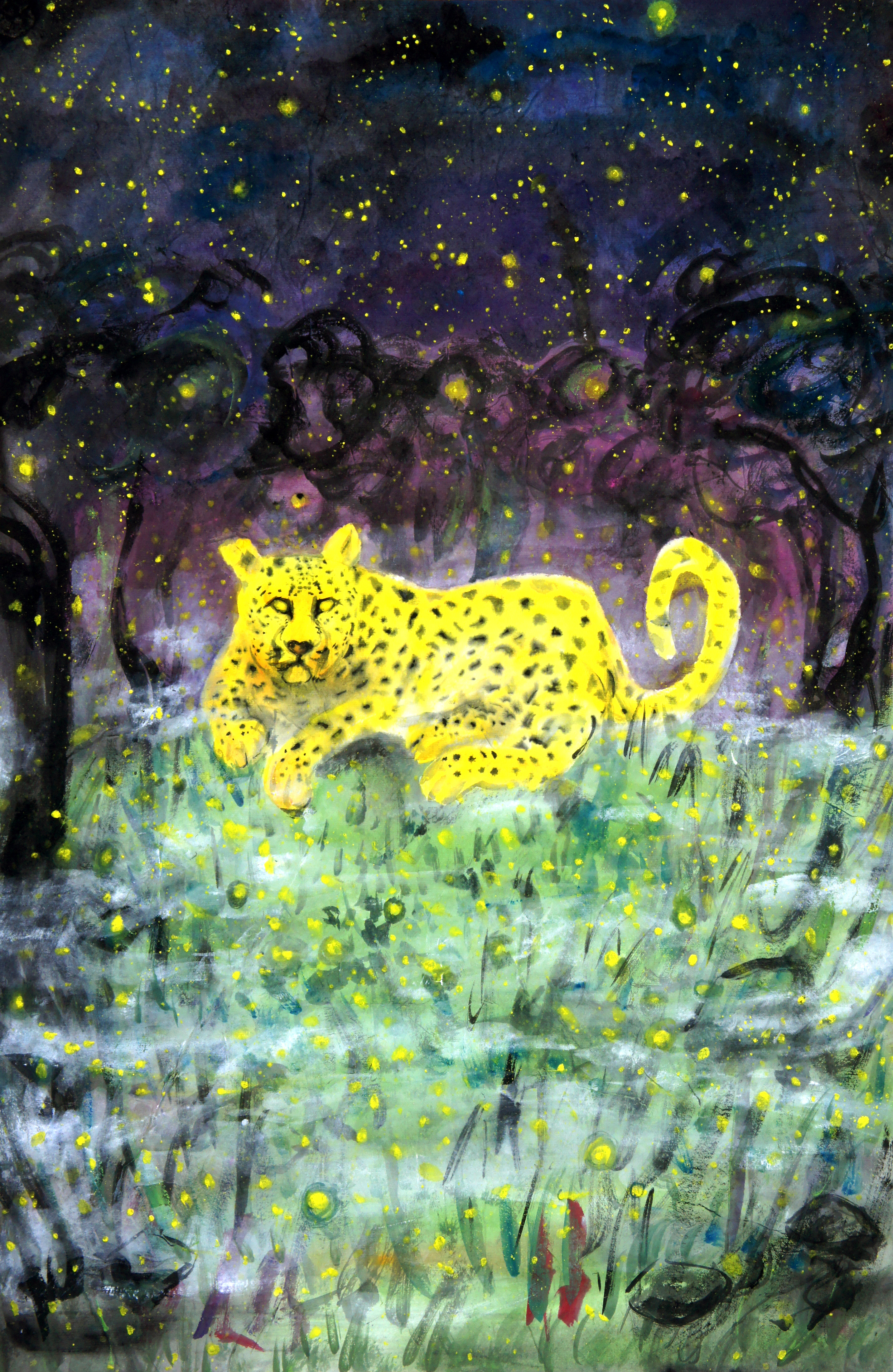 The Stars Are Out and There's a Leopard Between the Fireflies and Mist