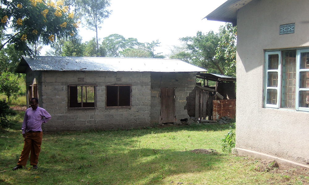 The original cowshed before renovation and additional building.