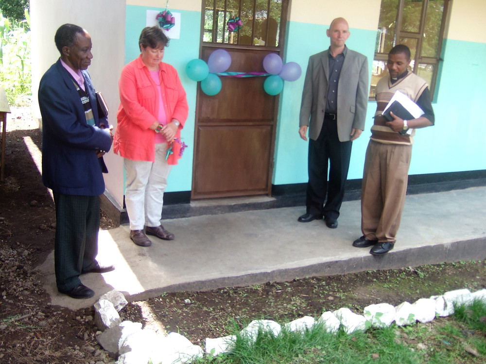 The official opening of the first purpose built classroom.