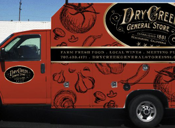 Dry Creek General Store Truck Wrap
