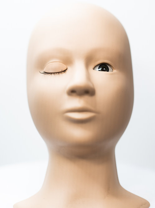 Silicone Mannequin Head With Replaceable Eyes