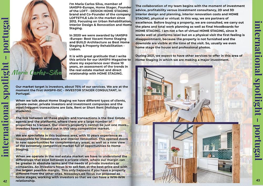 Maria Carlos Silva IAHSP Magazine - mar/21