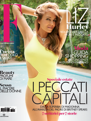elizabeth hurley for f magazine
