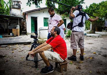 10.Betão Aguiar, Bruno Graziano e Raoni Gruber, durante as filmagens no Terreiro São Jor