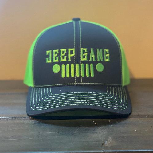 Neon Green/Black JG Snapback