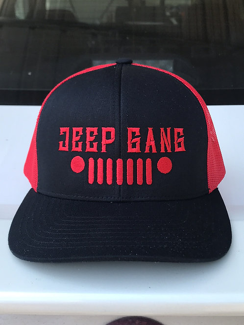 JEEP GANG red/black snapback