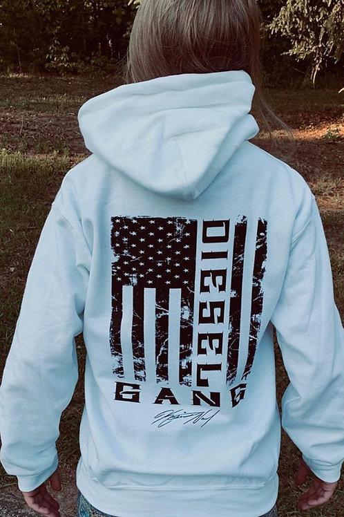 White DG Flag Hoodie
