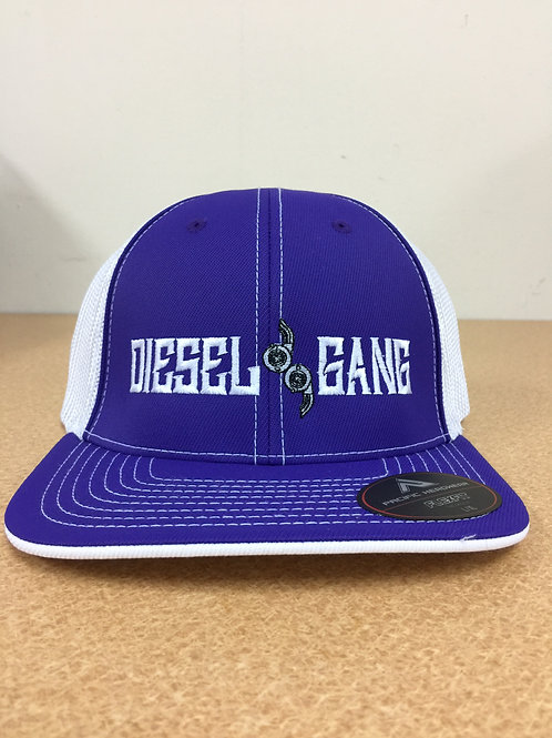 Fitted Purple/White Hat