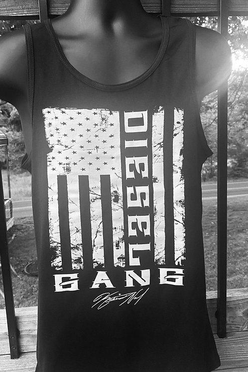 Black Unisex Diesel Gang Flag