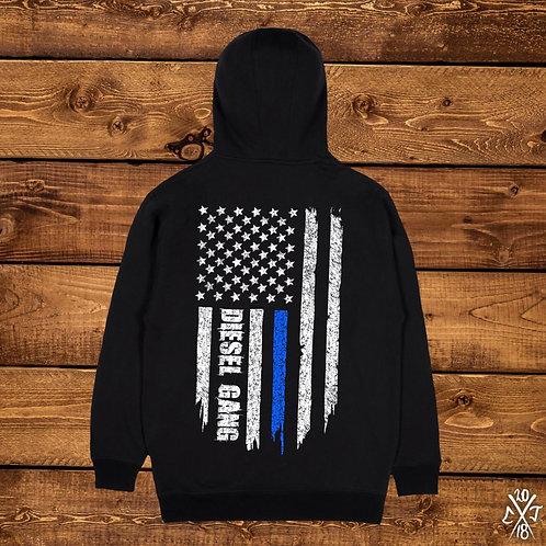 Blue Line Flag Hoodies
