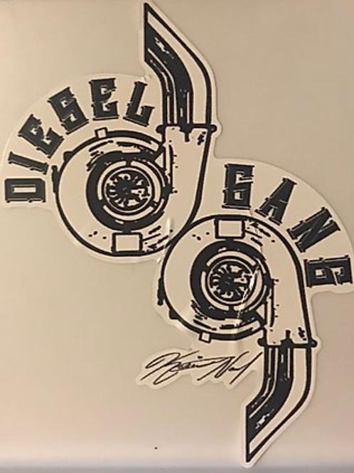 Large Twin Turbo Window Decal