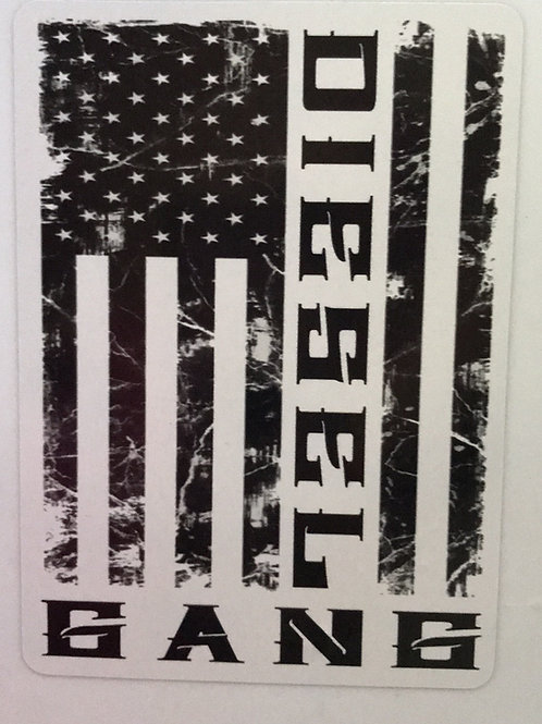 Diesel Gang Flag Decal