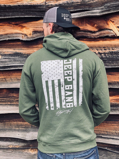 Jeep Gang Flag Hoodie Green