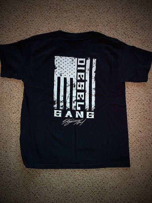"""""""YOUTH""""Dark Blue or black Diesel Gang Flag tees"""