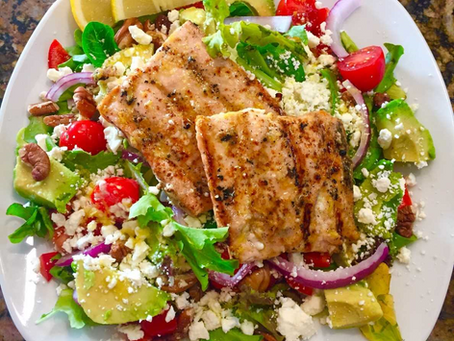 Lemon Grilled Salmon Salad