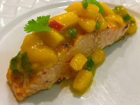 Applewood Salmon with Mango Salsa
