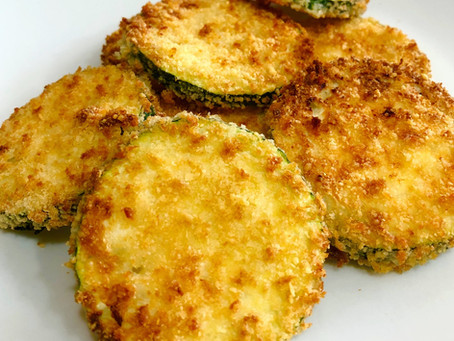 Air Fried Panko Parmesan Zucchini Crisp