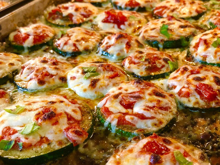 Low Carb Zucchini Pizza Bites