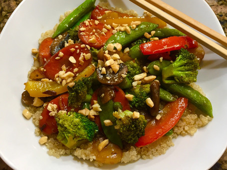 Savory Veggie Stir Fry with Quinoa