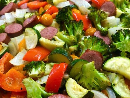 Sheet Pan Smoked Sausage and Veggies