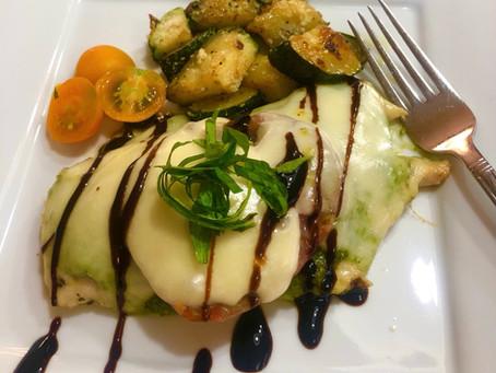 Caprese Chicken with Fresh Basil Pesto