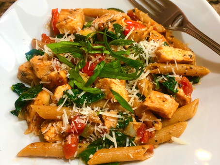Italian Grilled Chicken and Veggie Pasta