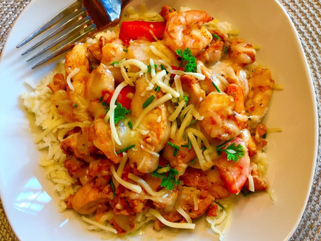 Grilled Chicken and Shrimp Fiesta Bowl