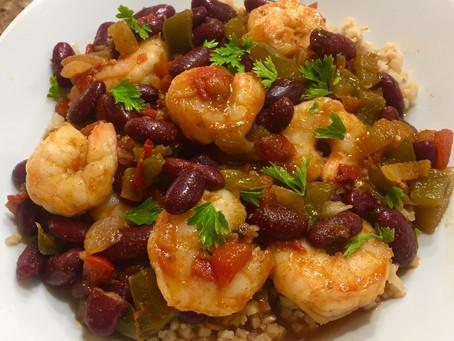 Cajun Red Beans, Shrimp and Rice