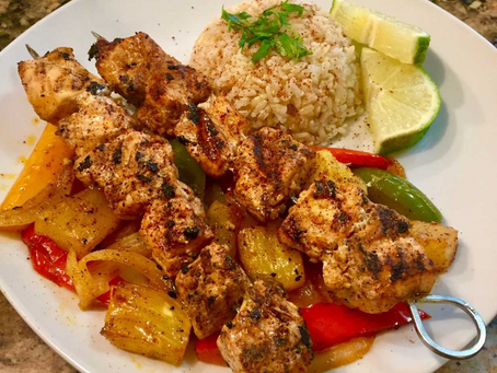 Key Lime Chicken Kabobs with Pineapple and Peppers