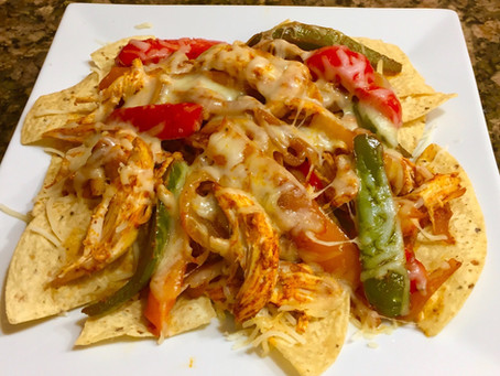 Rotisserie Chicken Fajita Nachos or Salad