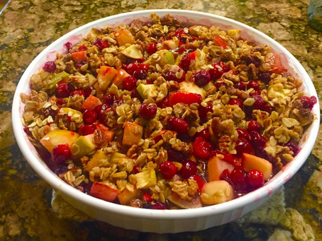 Baked Cranberry Apple Crunch