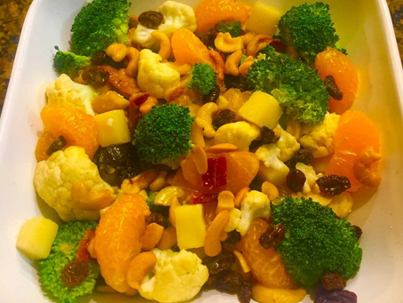 Holiday Broccoli and Cauliflower Salad