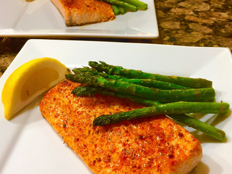 10 Minute Salmon and Asparagus / Meal Prep Recipe