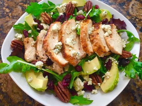 Black and Blue Chicken Salad