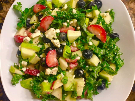 Easy Fruit and Kale Salad