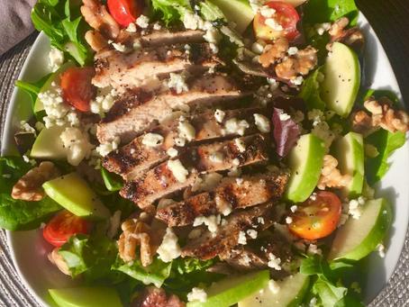 Apple Walnut Salad with Grilled Chicken