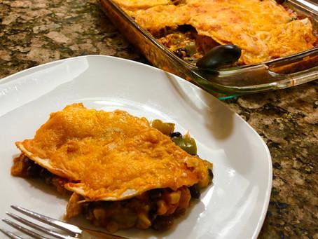 Chicken and Veggie Enchilada Casserole