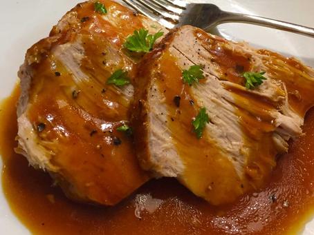 Crock Pot Honey Glazed Pork Loin