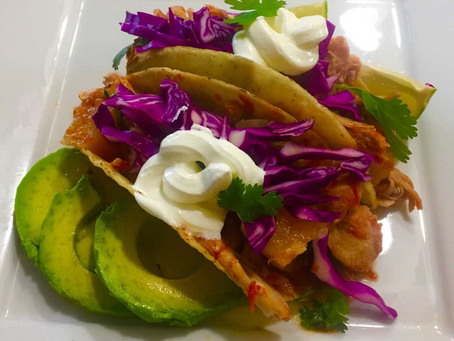 Slow Cooker Sweet and Spicy Pulled Chicken Tacos