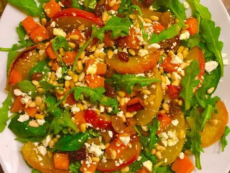 Roasted Apple and Butternut Squash Harvest Salad