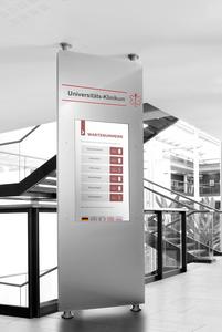 Aufrufsystem Vocatis - Sonderlösung Boden-Decken-Konstruktion