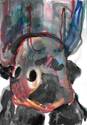 portrait 2 14.8x21cm watercolour on pape