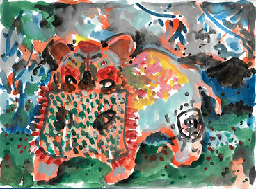 泥将军3 12.5x17cm watercolour on paper 2016