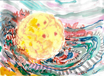 when the moon was a baby2 12.5x17cm wate