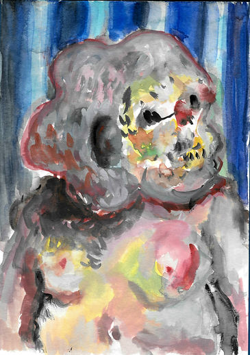 portrait 1 14.8x21cm watercolour on pape